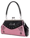 Webbed Widow Purse Black/Pink