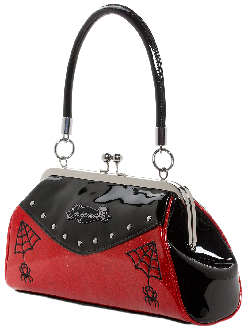 Webbed Widow Purse Black/Red