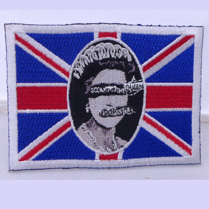 Sex Pistols Queen Flag Patch