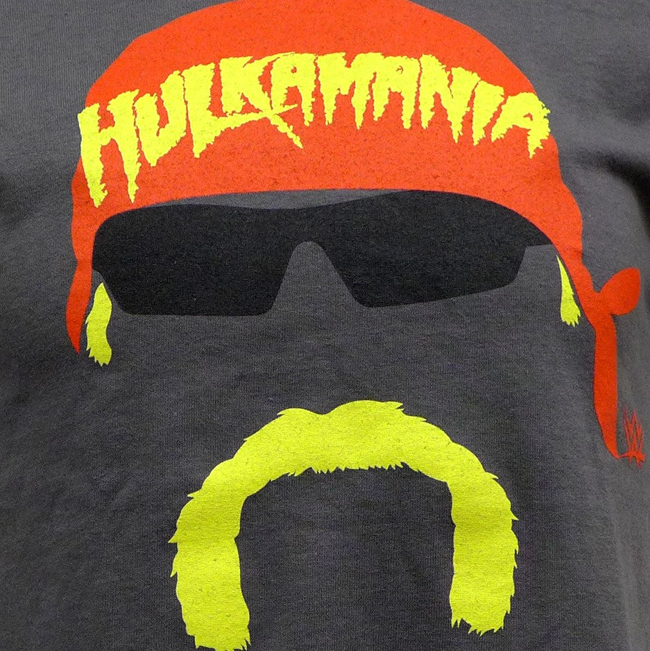 Hulkamania Face on Grey