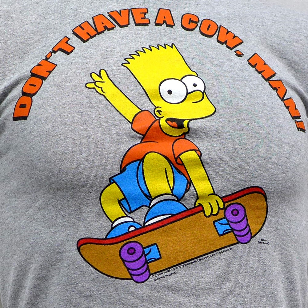 Simpsons Bart Have a Cow Grey