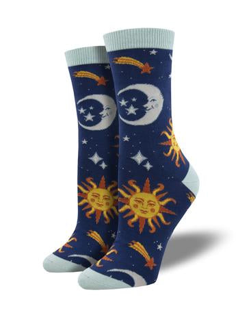 Clear Skies Navy Women's Socks