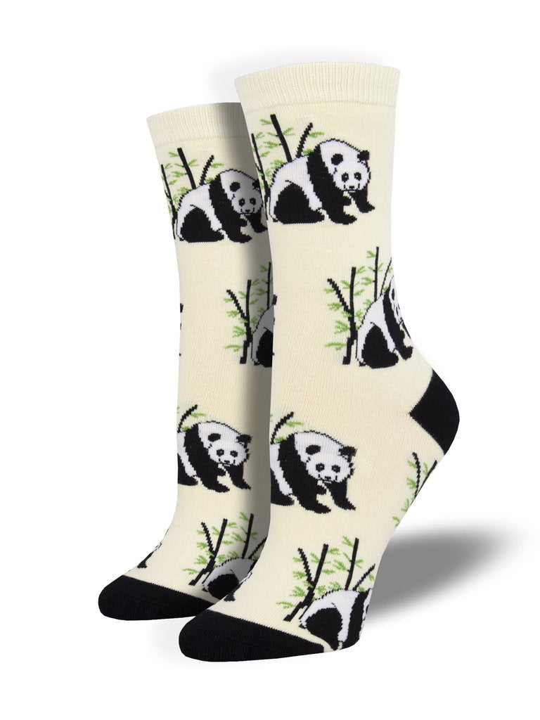 Panda Bear Ivory Women's Socks