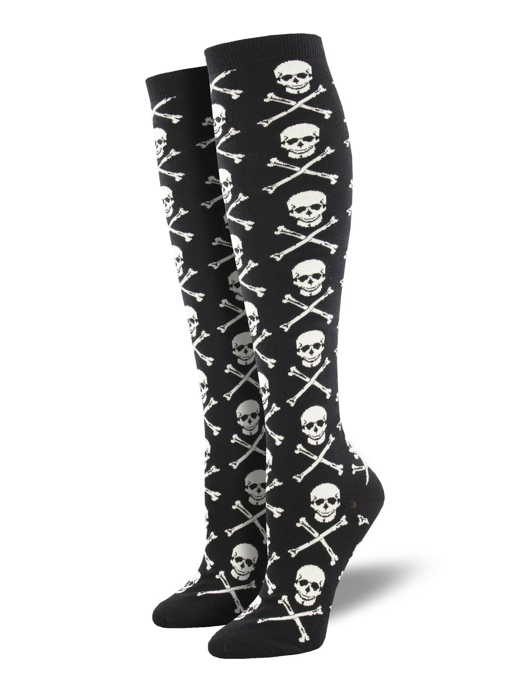 Cross Bones Knee High Women's Socks