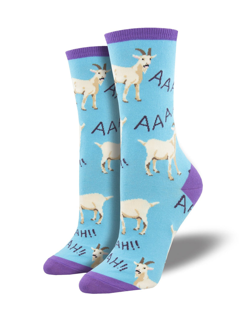 Screaming Goats Blue Women's Socks