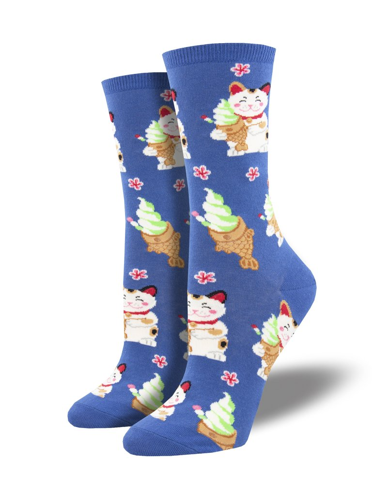 Taiyaki Cat Blue Women's Socks