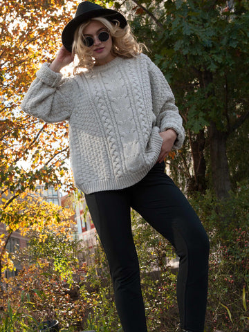 15% OFF: The Vaute Aran Sweater on Her - Cloud