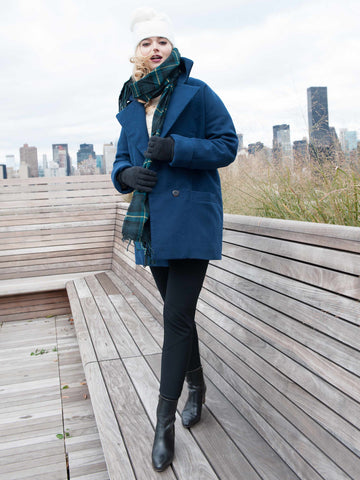 35% Off: The Classic VAUTE Peacoat in Midnight on Her - Only XS Left!