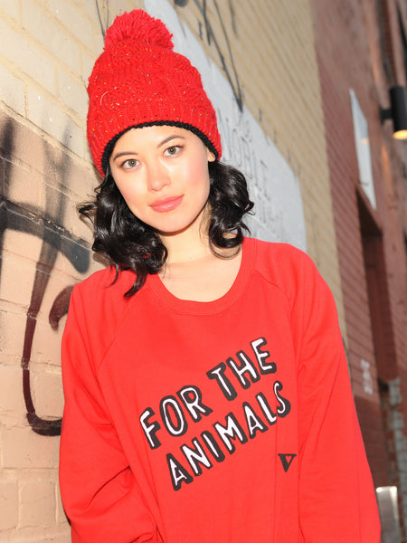 For the Animals in Red Long Sleeve