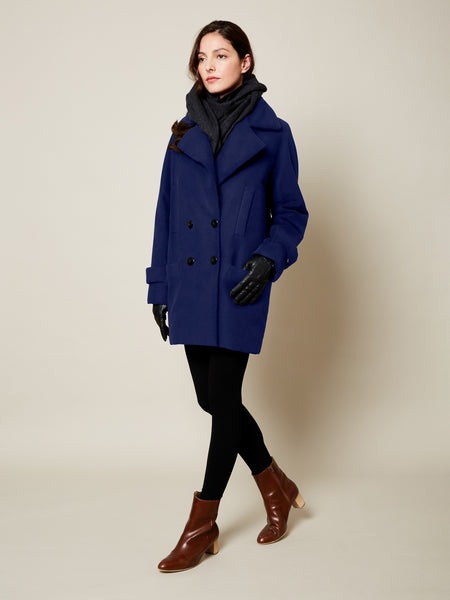The Classic Gender Neutral VAUTE Peacoat in Cobalt