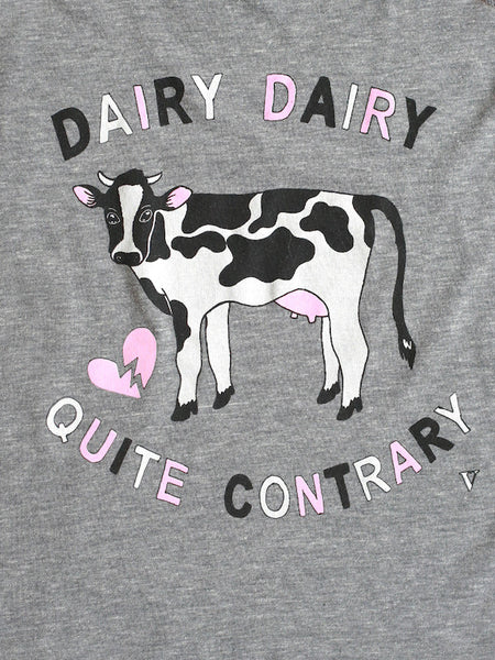 Dairy Dairy, Quite Contrary Tank in Grey [Benefit for Wildwood Farm Sanctuary]