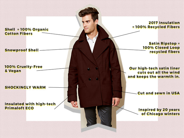 Preorder: The Classic VAUTE Peacoat in Camel on Him