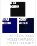 Kristina Dress In Moleskin-Multiple Colors
