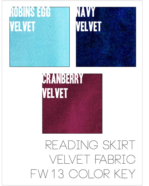 Reading Skirt-Robins Egg Velvet