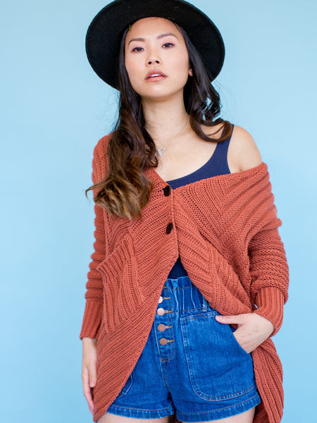 15% OFF: The Anais Cardigan in Copper