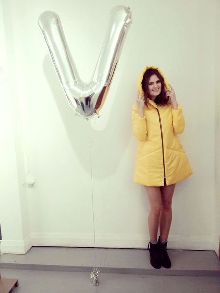 35% off: The Yellow EMMY A-Line Snow Coat