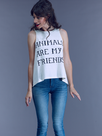 Animals Are My Friends VAUTE Tank - Natural