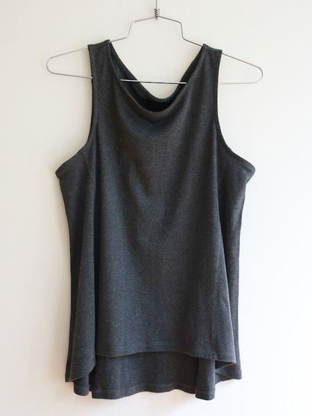 FINAL SALE: The VAUTE Tank in Charcoal and Ivory