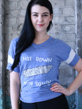 Not Down With Down Tee - Blue
