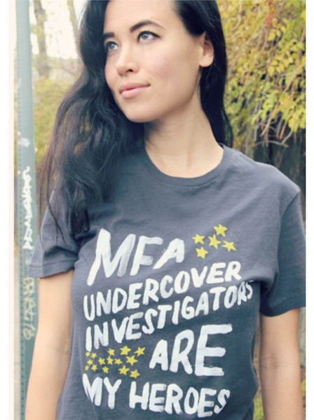 FINAL SALE: MFA Heroes Organic Tee in Coal [Benefit for Mercy for Animals]