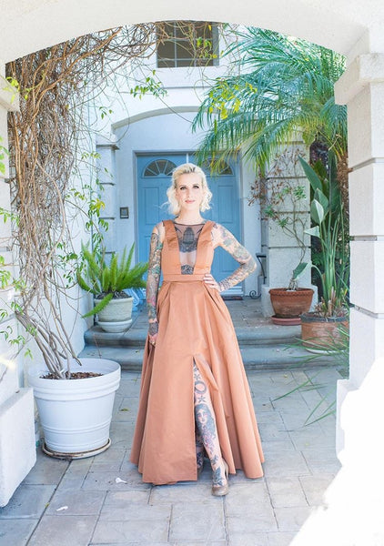 The OLIVER Gown in Satin - Rose Gold