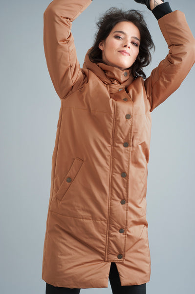 SOLDOUT - The Satin Casto Parka in Copper [PREORDER]