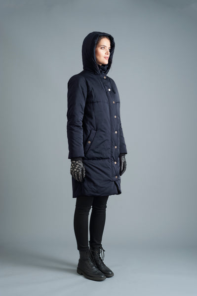 The Satin Casto Parka in Midnight [ PREORDER ]