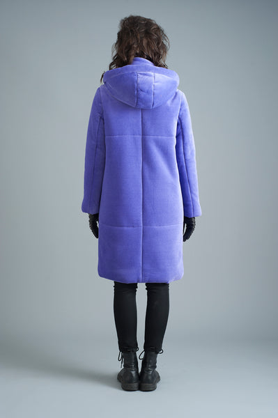 The Fleece Casto Parka in Lilac [PREORDER]