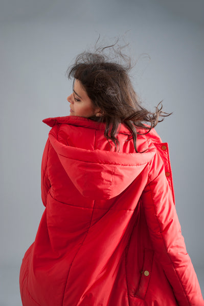 The Casto Parka in Red [4 LEFT]