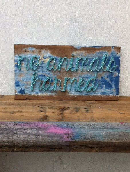 Tripsy for VAUTE *Yarn Sign* NO ANIMALS HARMED (Limited Run)