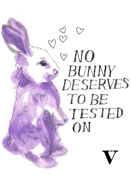 No Bunny Racerback in Ivory [Supporting #BeCrueltyFree]