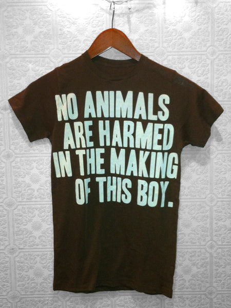 No Animals Harmed in the Making of This Boy Tee