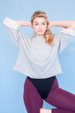The Organic Cropped Crossover Sweater