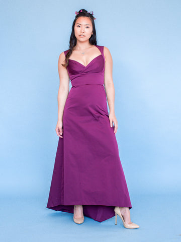 The ANAIS Gown - Eggplant