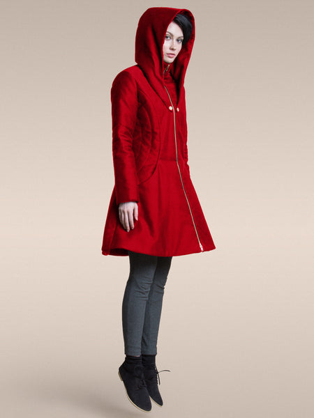 35% Off: The Bey Superhero Coat in Cherry - Only XS and M Left!