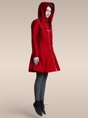 PREORDER 25% OFF: The Bey Superhero Coat in Cherry