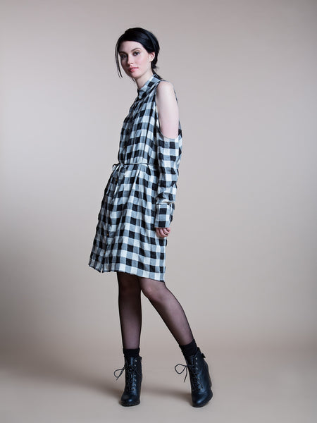 50% OFF: The Brenda Shirt Dress in Plaid Cotton