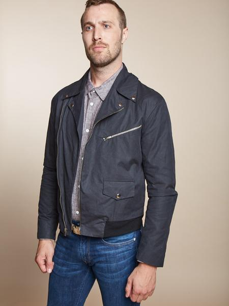The Gender Neutral James in Black Waxed Canvas SMALL ONLY - FINAL SALE