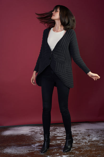 The Anais Cardigan in Black [L - XXL]