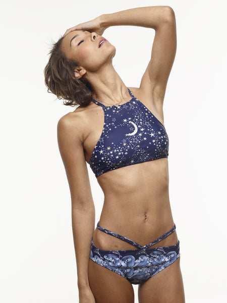 The Ursula V Swim Bottom in VAUTE Star Print