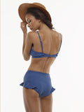 FINAL SALE: The Becca High-Waisted Swim Bottom in Stargate Blue