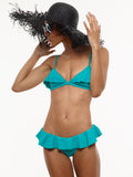 25% OFF: Sophie Ruffle Bikini Top in Mermaid Green