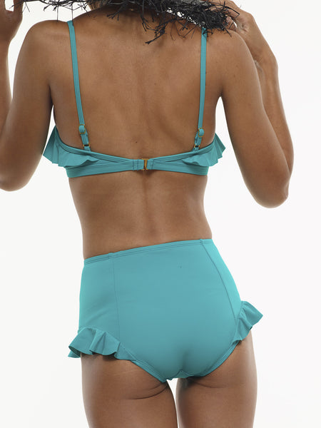 25% OFF: The Becca High-Waisted Swim Bottom in Mermaid Green - S Only!