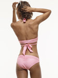 Karolina Wrap Swim Top in Doll's Cheeks Pink