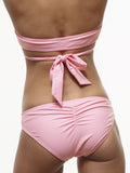 20% OFF: Ruched Swim Bottom in Doll's Cheeks Pink