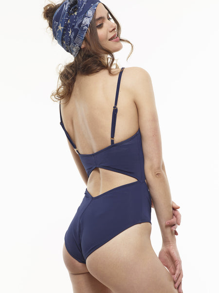25% OFF: The Dagmara Diamond One-Piece in Midnight