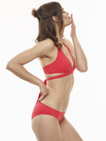 25% OFF: Karolina Wrap Swim Top in Ariel's Hair Red