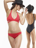 25% OFF: Ruched Swim Bottom in Ariel's Hair Red