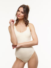 $25 Off: Classic Scoop VAUTE Organic Bodysuit in Ivory