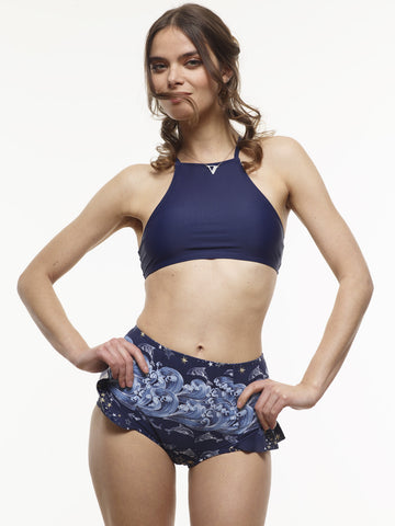 25% OFF: The E-Racerback Swim Top in Midnight Blue